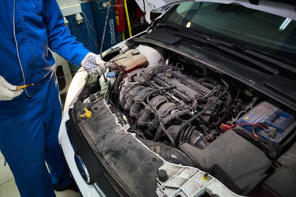 Осмотр подкапотного пространства Ford Focus III