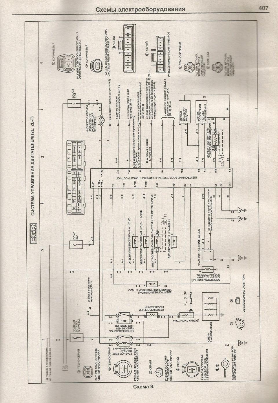 электрическая схема тойота марк 2 80 кузов
