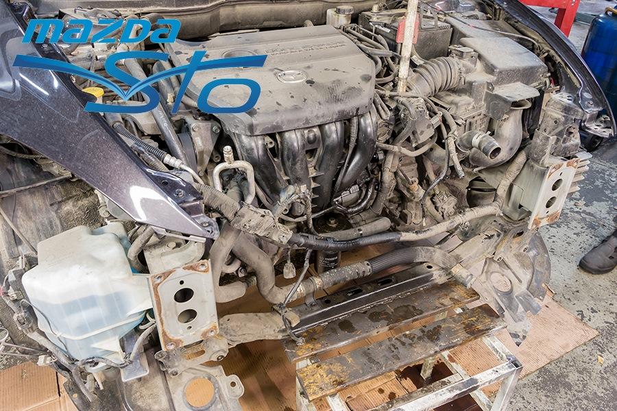 Замена отводящего шланга радиатора мазда 6 gh Замена бензобака ленд ровер