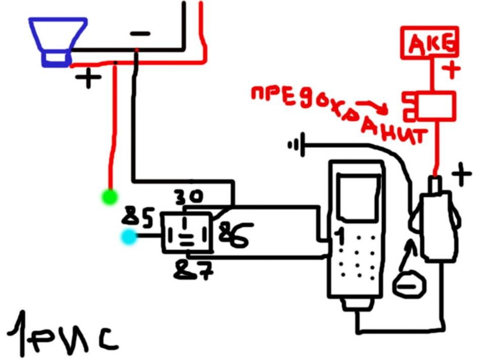 Схема GSM сигналки как и