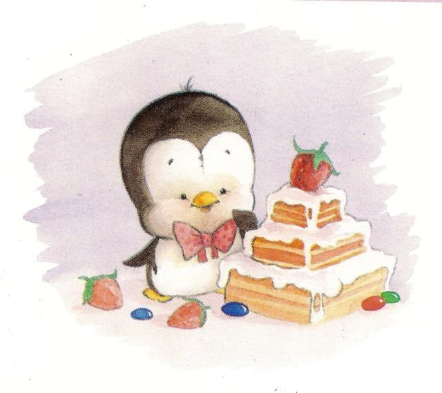 Открытки в день рождения с пингвинами