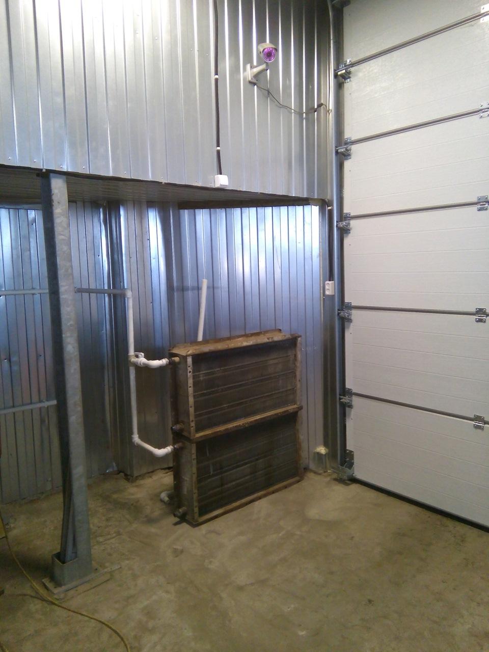 как обогреть гараж тепловой завесой