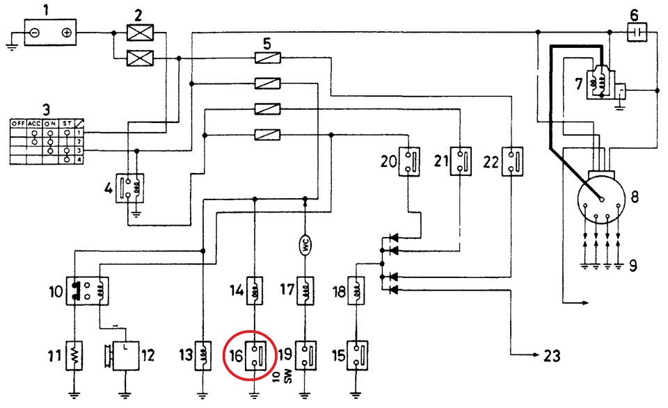Схема зажигания ga15ds
