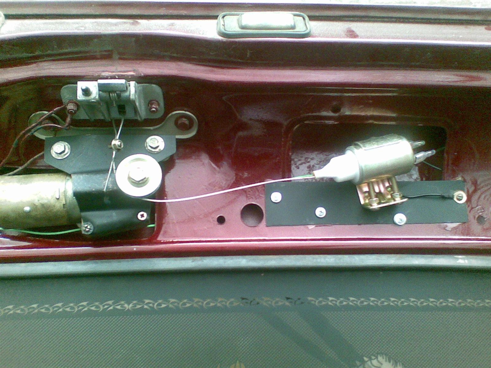 Электропривод багажника своими руками ваз 2109