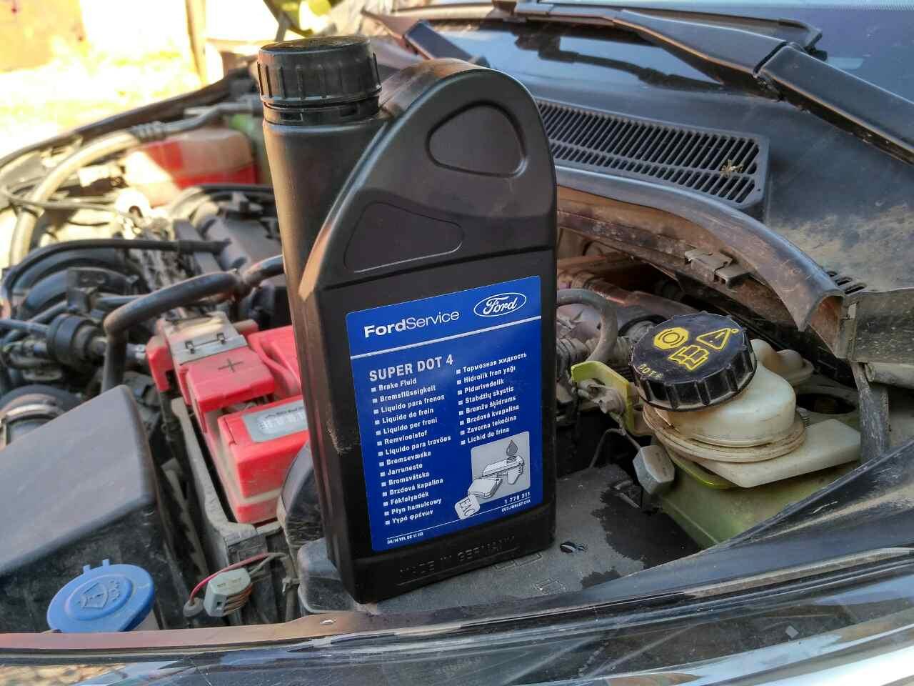 Замена тормозной жидкости форд Замена вакуумного усилителя тормозов гольф 4