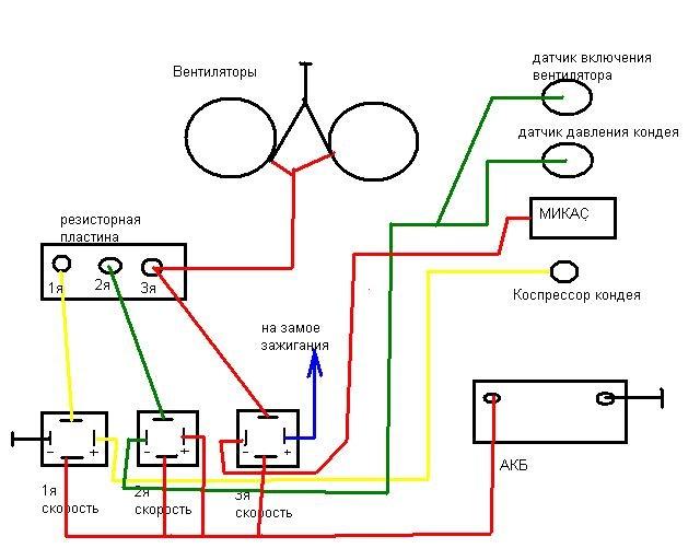 подключения вентиляторов