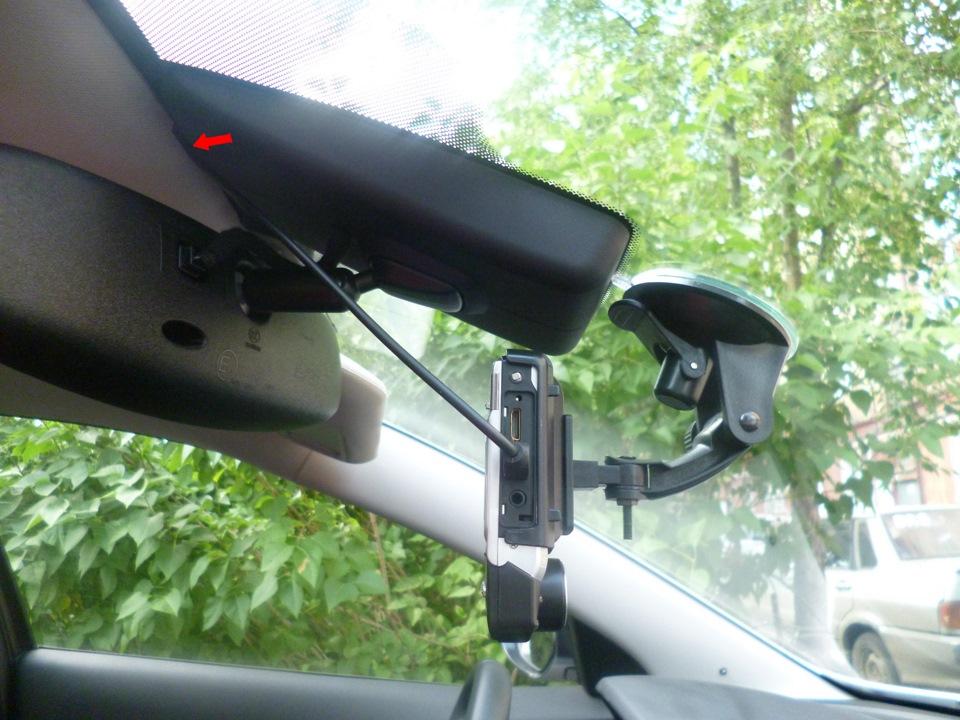 установка видеорегистратора в mazda 6