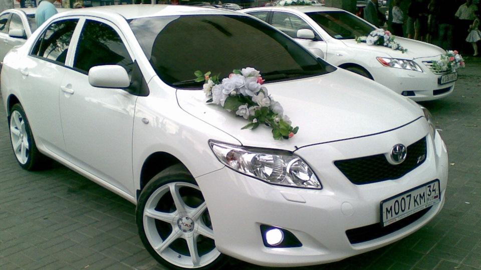 Тойота королла белая фото
