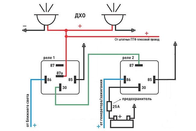 Пятиконтактное реле схема подключения фар