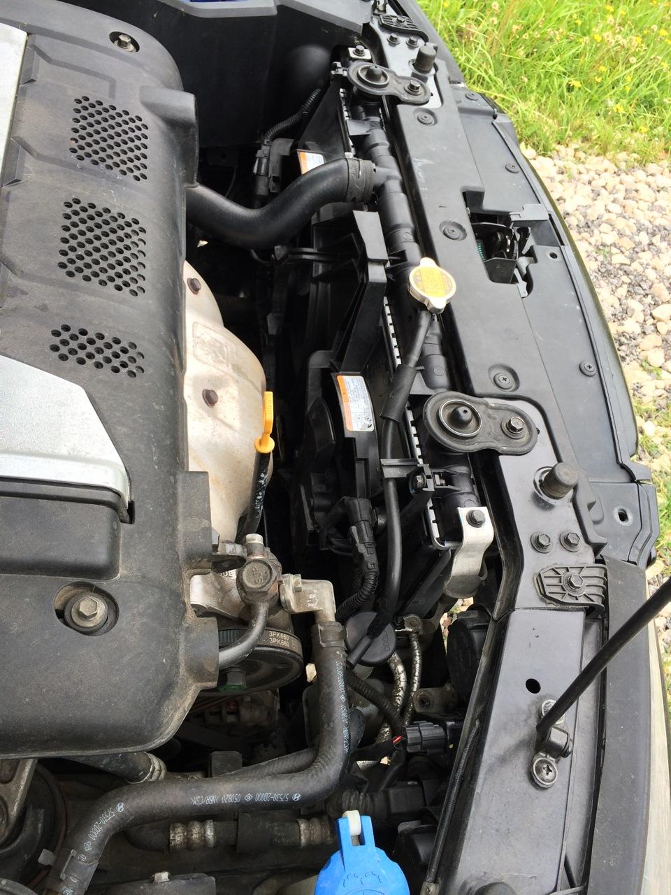 Замена радиатора охлаждения хендай элантра