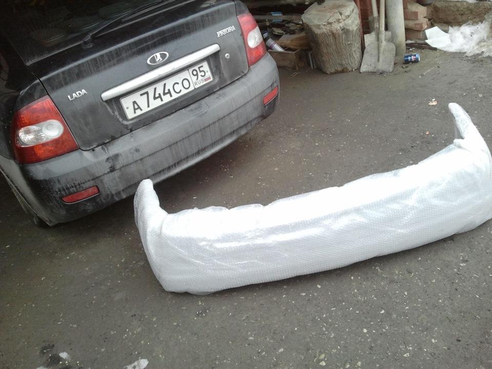 Приора с новым бампером фото