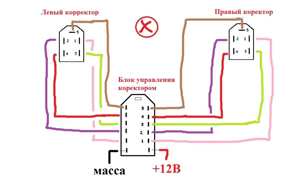 схема электро корректора фаз