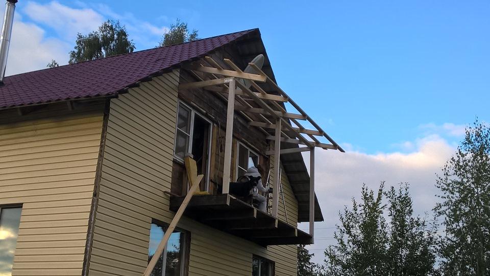 Балкон в частном доме своими руками