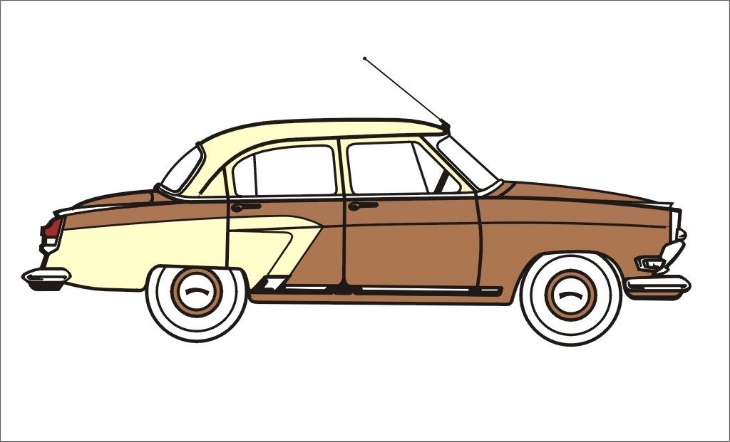 масла, рисунок автомобиля сбоку школе его