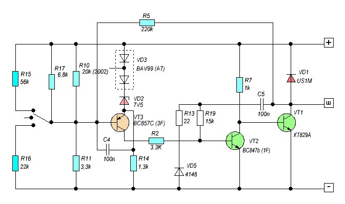 Регулятор напряжения трехуровневый схема фото 717