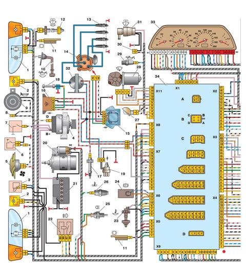Расположение электрических схем фольксваген поло