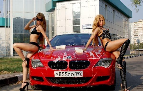 Сексуальное бикини автомойки