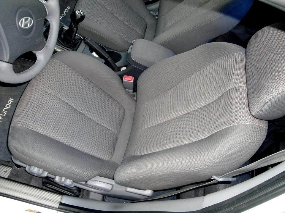 замена переднего водительского сиденья hyundai avante
