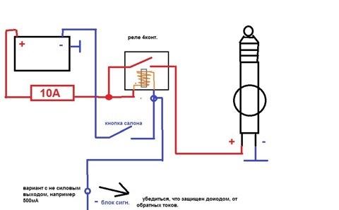 Схема подключения, взятая из