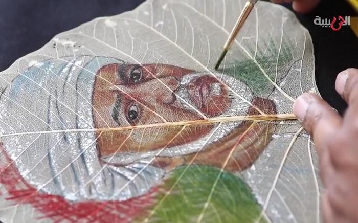 Скелетированные листья открытки