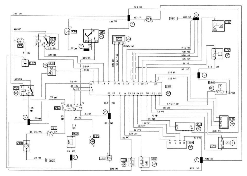 Схема на моновпрысковый F3N