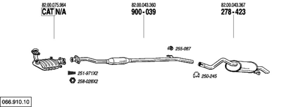 хомут для глушителя renault symbol