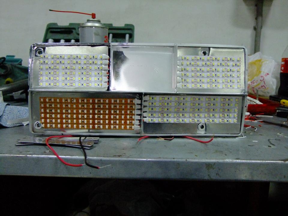 Задние фонари из светодиодной ленты своими руками