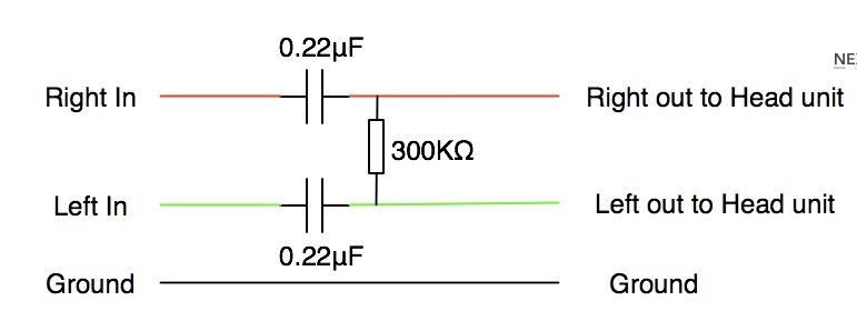 Схема AUX выхода