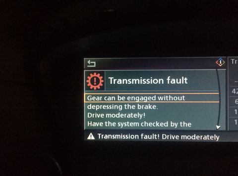 Transmission Fault Drive moderately BMW E60