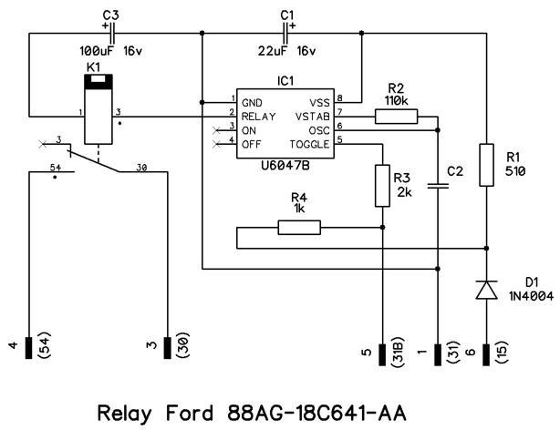 Схема реле 88AG-18С641-AA