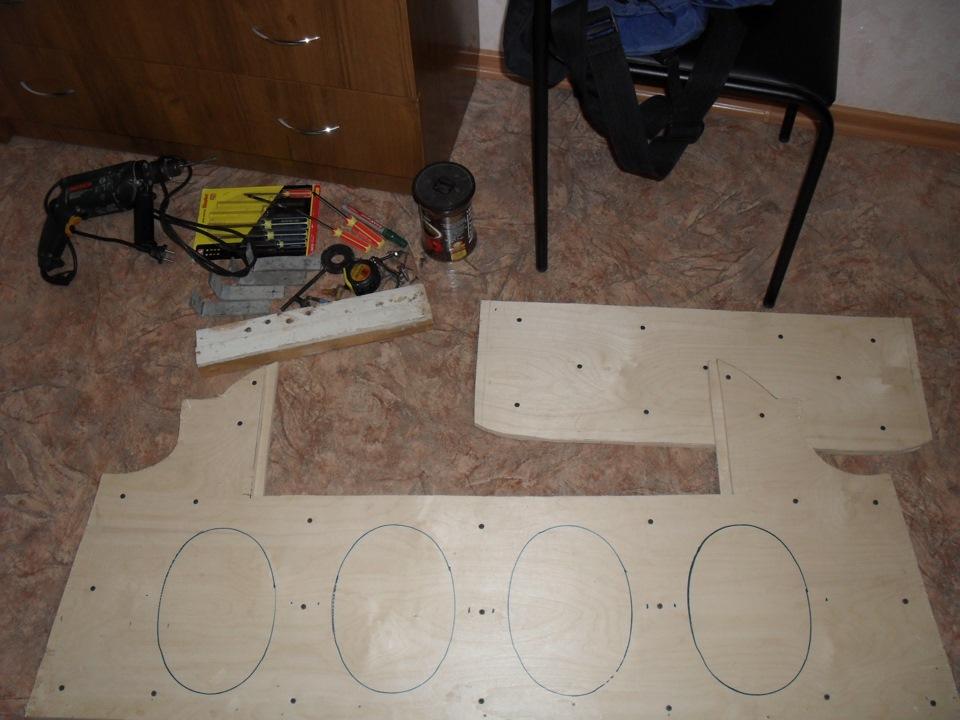 Как сделать акустическую полку на ваз 2112 своими руками