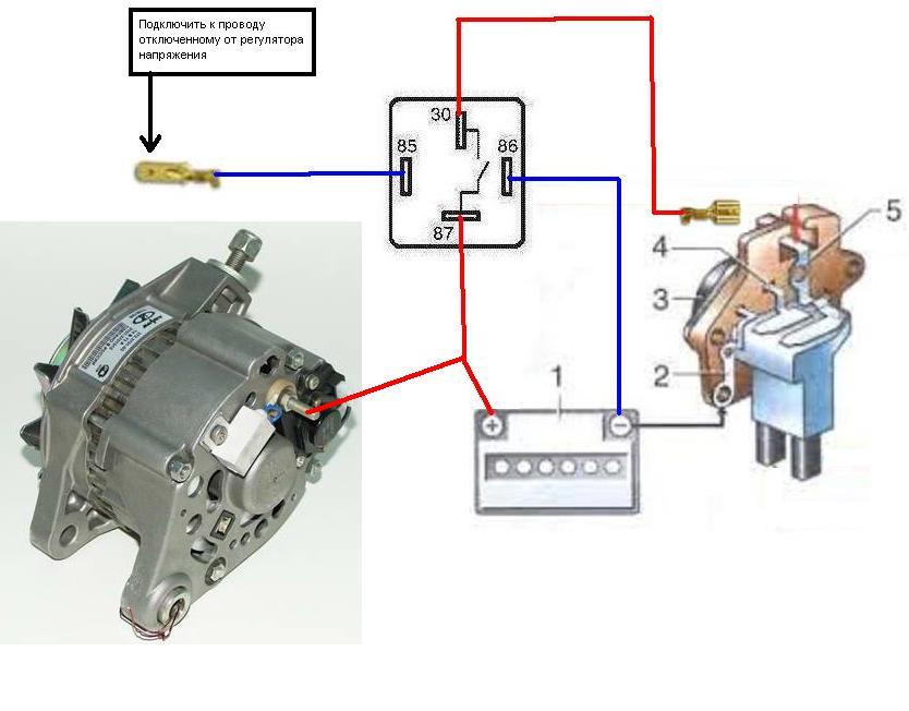 Схема подключения генератора в картинках