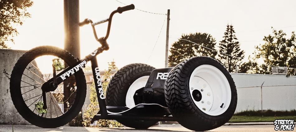 трёхколёсного велосипеда.