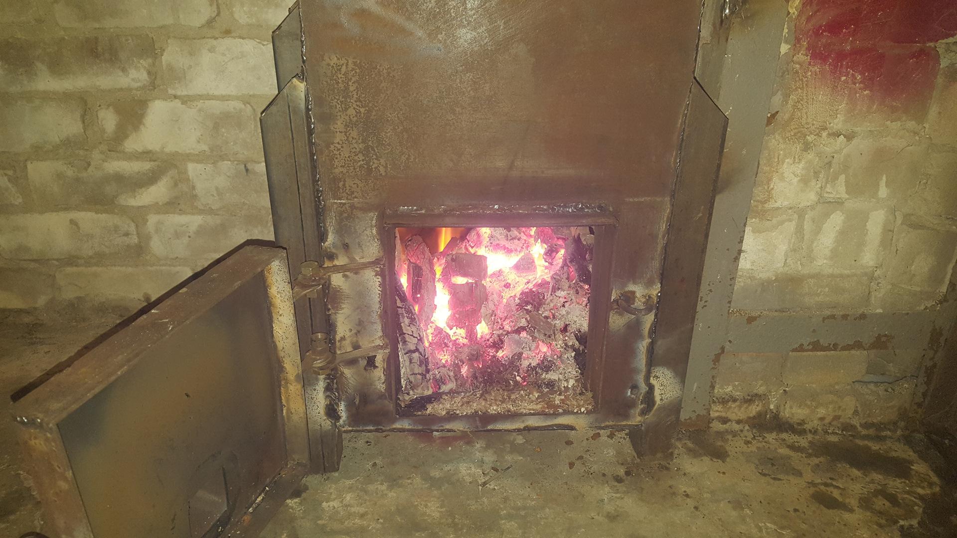 Печи длительного горения для гаража своими руками