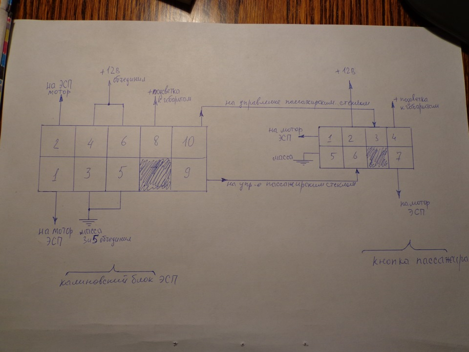 схема подключения блока и