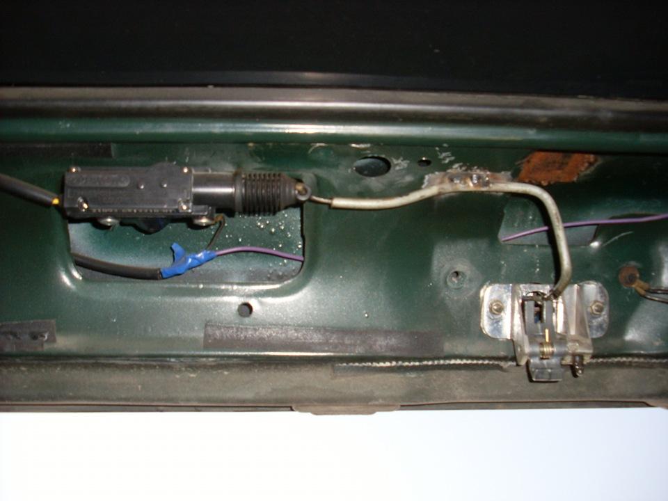 Электрозамок багажника ваз 2109 своими руками