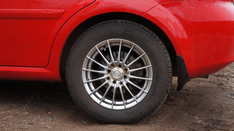 chevrolet lacetti максимальній размер колес
