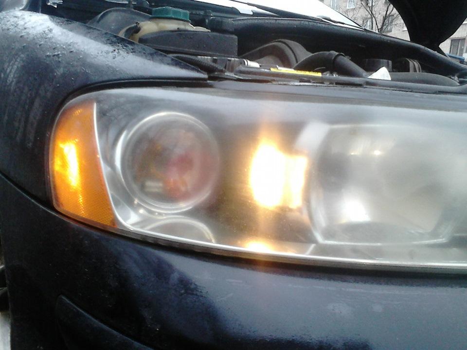 замена лампы габарита volvo xc70