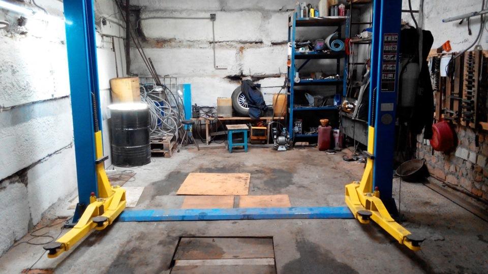 Установка подъемника в гараже своими руками 47
