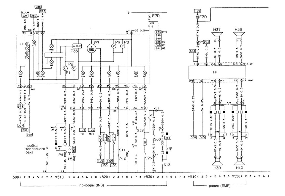 X100 Панель приборов-радио