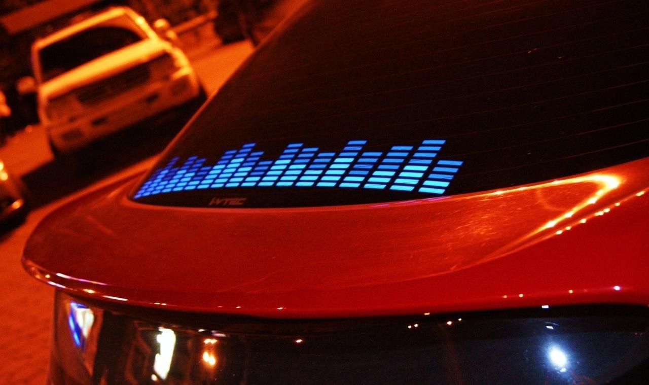 Эквалайзер на стекло автомобиля