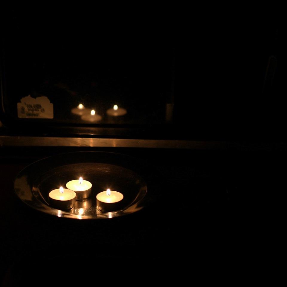 фото романтика свечи