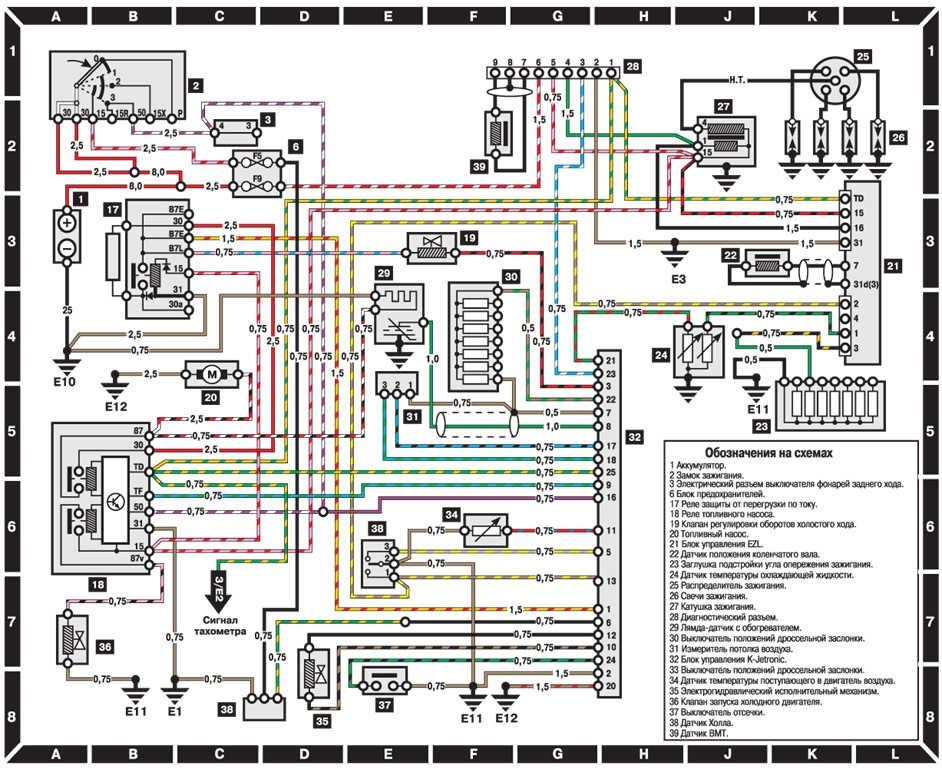 Электросхемы на W124