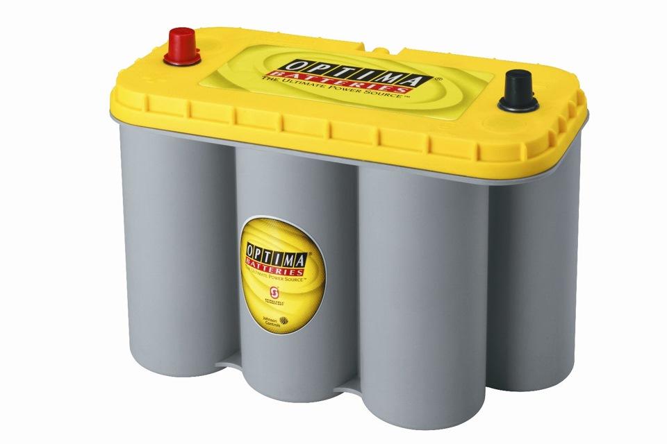 Автомобильный аккумулятор Optima YellowTop YT R 5.0 Об. в наличии. Аккумул
