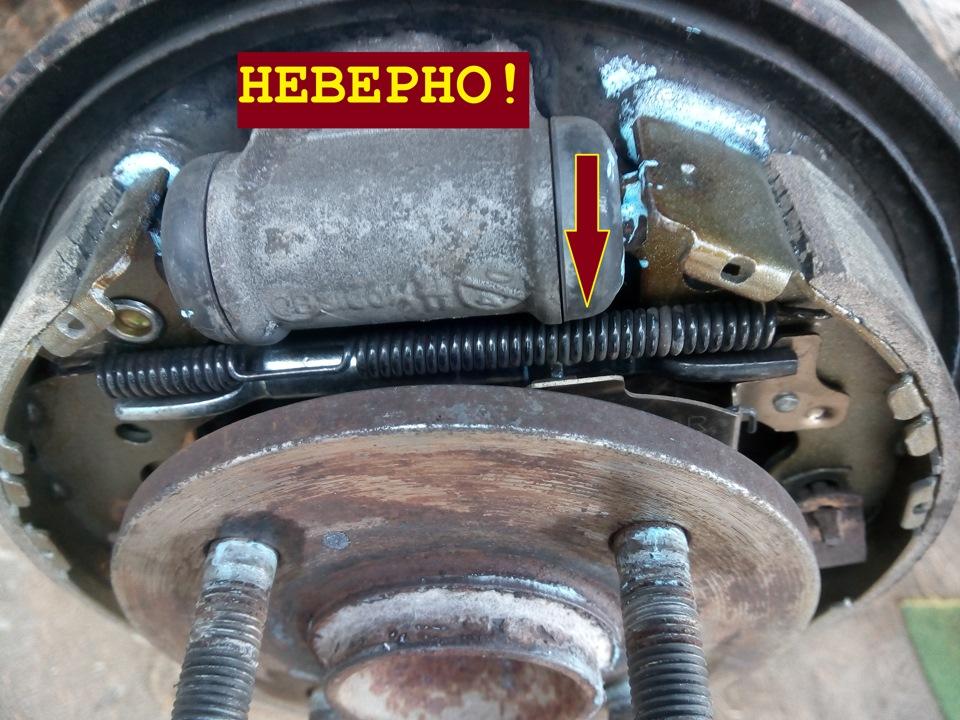Замена задних тормозных барабанных колодок (ч.2, правая) - бортжурнал KIA Rio неоригинал 2010 года на DRIVE2