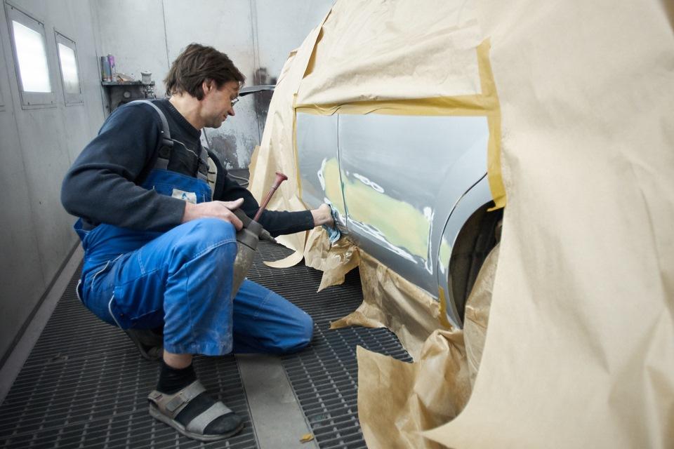Обезжиривание поверхностей для покраски и профилактика попадания пыли