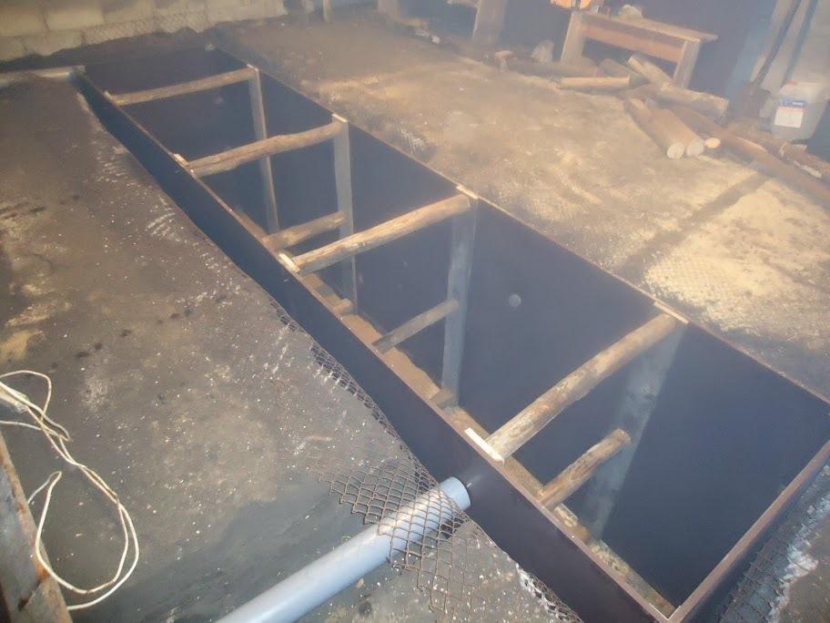 Как сделать опалубка смотровая яма 106