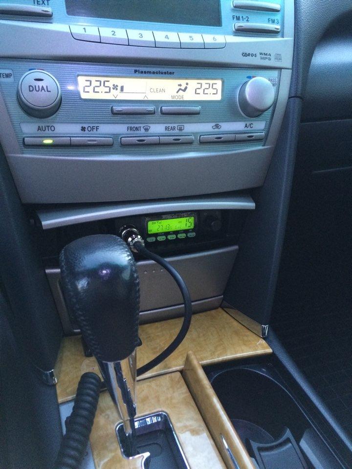 установка ci-bi радиостанции в toyota probox