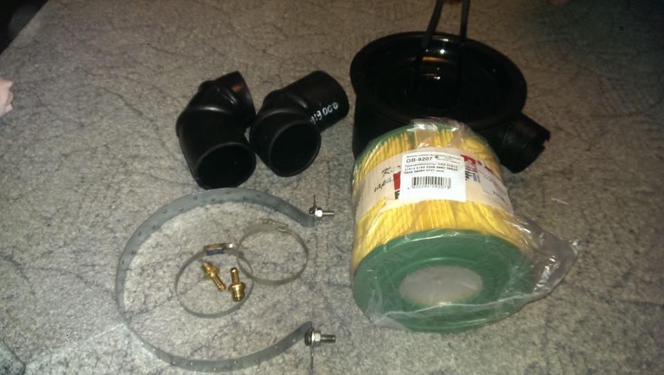 Установка воздушного фильтра на уаз