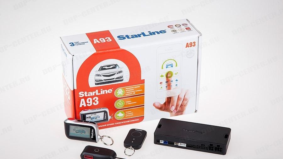 Установка сигнализации starline a93